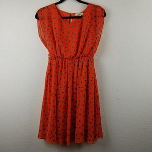 Ya Los angeles orange silk summer dress